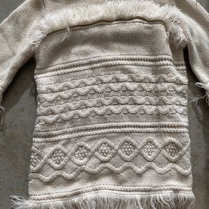 BB Dakota Sweaters - BB Dakota fringe macrame knit sweater